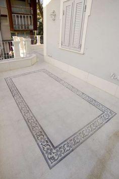 #tiling #outdoor #Pavimentazioneesterna #colore #bespoke #design #terrazzo #terazzotiles #white #graniglia #decoro #floreale