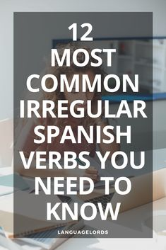12 Most Common Irregular Verbs | Do you want to know the most common spanish irregular verbs? Knowing the difference between regular and irregular verbs is key when learning spanish. That is why we created this irregular verbs list for aspiring language learners. We even included a bonus to download our spanish irregular verb conjugation list and anki deck spanish flash card bundle. Get started with these common irregular verbs. #listofspanishirregularverbs #irregularverbs #spanishirregularverbs Language Quotes, Language Study, Learn A New Language, Foreign Language, Teaching Tips, Learning Resources, Learning Spanish, Spanish Class, Verbs List