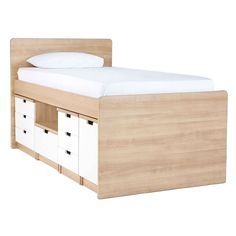 What a great bed with heaps of storage too!  source: http://www.domayneonline.com.au/charlie-single-bed-suite.html