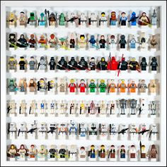 https://flic.kr/p/bMpitV | Lego Star Wars Minifig display No. 02 | See in large  Second batch of my LEGO Star Wars Minifigs Collection. There is no duplicates, even with the previous display.  - Also see display 01 - Also see display 03
