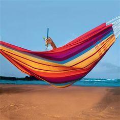 Hamaca Barbados XL de AMAZONAS, arcoíris en www.achica.es