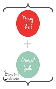 Poppy Red and Grayed Jade