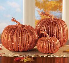 Harvest Pumpkins Set Fall Autumn Table Top Halloween Thanksgiving Home Decor New…