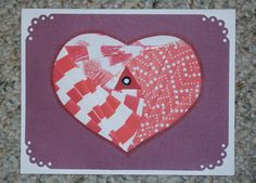 Heart Iris-Folded Card by FoldsWithLoveByHolly on Etsy, $4.00