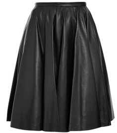 Leather Midi Skirt by Mcq By Alexander Mcqueen #matchesfashion