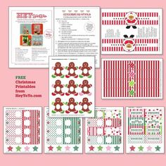 FREE Christmas printables/Hey Yo Yo