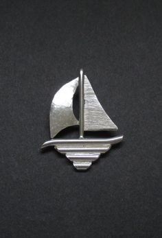 Sterling Silver Sailboat Pendant by SignetureLine on Etsy