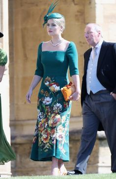 Lady Kitty Spencer turned heads in a green Dolce & Gabbana dress. Picture: Chris Jackson/Getty Images
