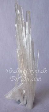 Scolecite is one of the high vibration crystals, and is a strong stone to aid communication, especially with spirit, and has a strong resonance within the chakras from the heart up. It is a stone that awakens the heart, and facilitates deep inner peace and spiritual transformation.