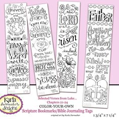 Luke 21 24 Bible Journaling Color Your Own Traceable Bookmarks Illustrated Faith INSTANT DOWNLOAD Scripture Digital Christian