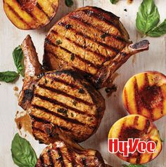Grilled Balsamic-Maple Pork Chops and Nectarines are as close to perfect summer as you can get, but we wonder what would happen if those pork chops were wrapped in bacon.