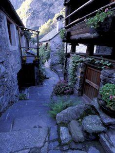 Village of Foroglio, Val Bavona, Switzerland Photographic Print by Gavriel Jecan at AllPosters.com