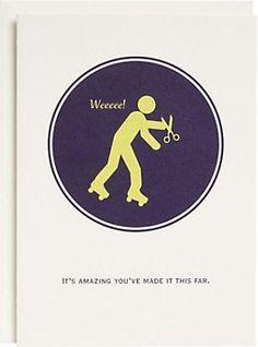Running With Scissors Birthday Card