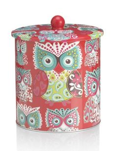 Owl biscuit tin from Marks and Spencer Christmas Wishes, Christmas Gifts, Cosy Christmas, Owl Kitchen Decor, Red Kitchen, Kitchen Tools, Crazy Owl, Decoupage, Owl Always Love You