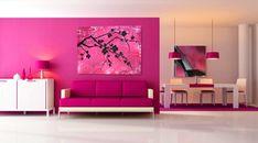 Pinke Wandfarbe – Wie können Sie Ihre Wände kreativ streichen? - pink wandfarbe ideen bilder wangestaltung mit farbe