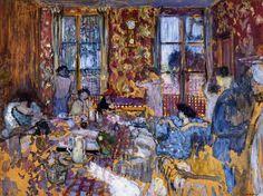 Breakfast at Villerville (1910) by Édouard Vuillard.  ~Repinned Via Gil Skidmore