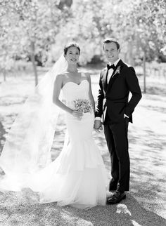 Wedding Dress: Vera Wang - http://www.verwang.com Photography: Jose Villa Photography - josevillaphoto.com   Read More on SMP: http://www.stylemepretty.com/2016/10/12/fall-wine-country-garden-wedding/