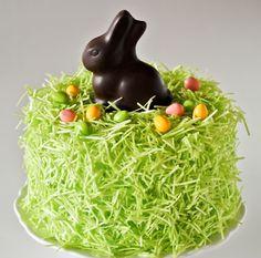 Chocolate Easter Bunny Cake