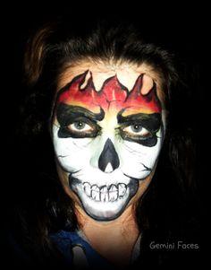 flameskull face painting