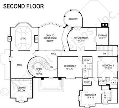 Di Medici Place House Plan Second Floor
