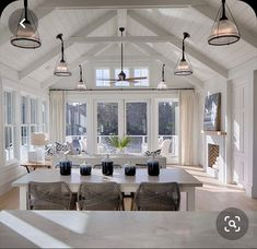 Best Open Kitchen Living And Dining Concepts Perfect For Modern And Traditional Interior Styles Farmhouse Style Kitchen, Modern Farmhouse Kitchens, Home Decor Kitchen, Kitchen Living, Kitchen Ideas, Room Kitchen, Farmhouse Decor, Dining Room, Farmhouse Ideas