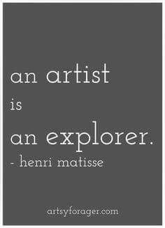 """""""An artist is an explorer. He should begin by seeking himself, seeing himself act. Then, not restraining itself. And above all, not being easily satisfied."""" Henri Matisse Quotes Art Artists quotes Sayings Creative writing Inspirational quotes Great Quotes, Quotes To Live By, Inspirational Quotes, Motivational, Henri Matisse, Matisse Art, Words Quotes, Me Quotes, Art Sayings"""