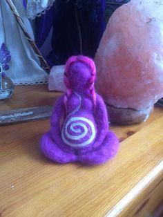 Needle felted Goddess