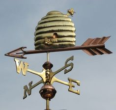 Beehive Weathervane by West Coast Weather Vanes.