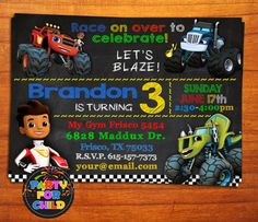 Blaze and the Monster Machines Birthday by PartyForChild on Etsy
