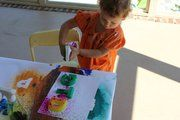 Spray Art  -liquid watercolors  -spray bottles (we prefer clear bottles),  -paper or an easel  -different shapes, letters, etc.