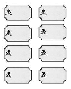 pirate tags flat
