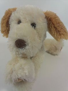 Commonwealth Puppy Dog Plush Floppy Brown Cream Stuffed Animal Pup Shaggy Toy  #Commonwealth