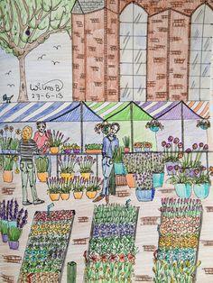 Flowermarket, Janskerkhof, Utrecht The Netherlands