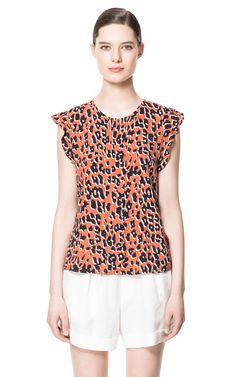 PRINTED TOP - Shirts - Woman - ZARA United States