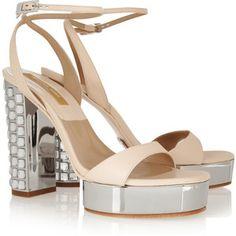 Gem heel wedding shoes- <3