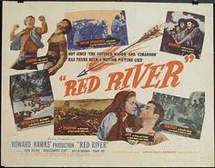 RED RIVER (1948) - John Wayne - Montgomery Clift - Walter Brennan - Joanne Dru - Directed by Howard Hawks - United Artists.