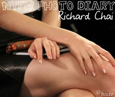 The nail look at Richard Chai was sueded gold