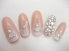 Nudy gradient Bridal blink nail by ohimenail on Etsy, $28.00