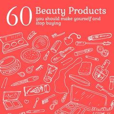 This is the HOLY GRAIL for DIY beauty products! A total of 60 products that is easy to make at home!!