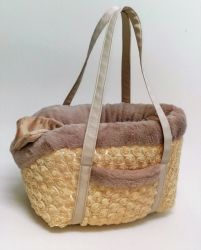 Eh Gia Bag and Bed Camel Rose Hondendraagtas