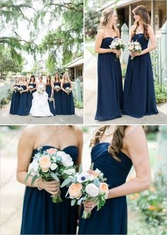 Cheap dress cowboy, Buy Quality dress romantic directly from China dress ice Suppliers:  Sweetheart Neckline Dark Navy Blue Bridesmaid Dresses Long Chiffon Ruched Bodice Bridesmaid Dresses Vestido De Festa