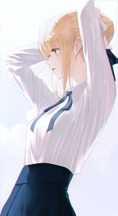 Especially cute anime girls and boys being cute. Content from anime, manga,. Anime Girls, Kawaii Anime Girl, Manga Girl, Anime Art Girl, Manga Anime, Pretty Anime Girl, Beautiful Anime Girl, Arturia Pendragon, Fate Stay Night Anime