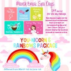 March Break Spa Days at Glama Gals Durham Region, Spa Day, Outdoor Activities, Special Events, Have Fun, March, Field Day Activities, Mac