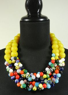 African Mali Wedding Bead and Colodonte Bead by MenageAJewels, $220.00