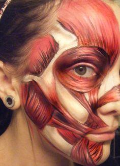 beneath the flesh; a nice change from doing skulls http://www.makeupbee.com/look_beneath-the-flesh_8082