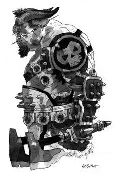 Ogre; illustration by Sam Bosma