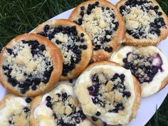 This lemon blueberry crisp recipe is perfect for summer! Make these individual pies in mason jar lids. So cute and are great for parties! Blueberry Pie Recipes, Lemon Recipes, Tart Recipes, Dessert Recipes, Individual Desserts, Mini Desserts, Delicious Desserts, Thanksgiving Deserts, Blueberry Crisp