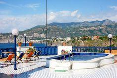Pool and terrace at Villa la Terrazza, Sorrento Vacation Villas, Vacation Rental Sites, Sorrento, Terrazzo, Centre, Swimming Pools, This Is Us, Building, Outdoor Decor