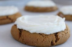 Cutlers Gingerbread cookies with buttercream frosting