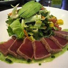 My version of Joey Restaurant- Sashimi Tuna Salad with mint lime cilantro dressing Recipe
